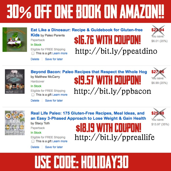 Paleo Parents Black Friday Discount Round Up, Amazon