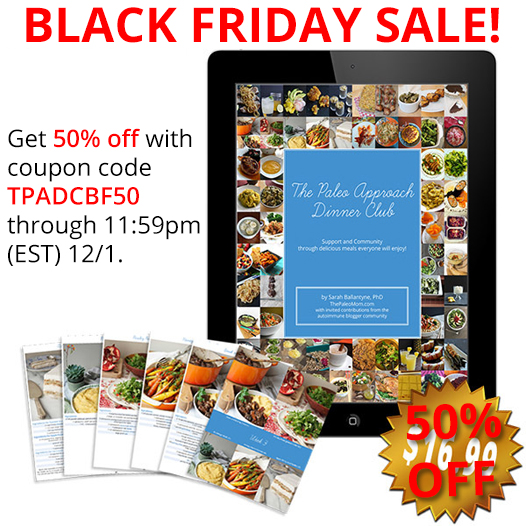 Paleo Parents Black Friday Discount Round Up, The Paleo Approach Dinner Club
