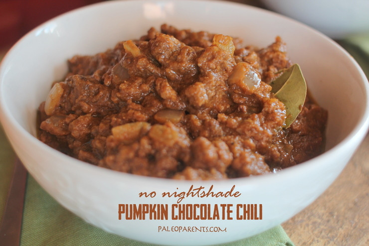 Pumpkin Chocolate Chili for Tailgating for Your Couch by PaleoParents
