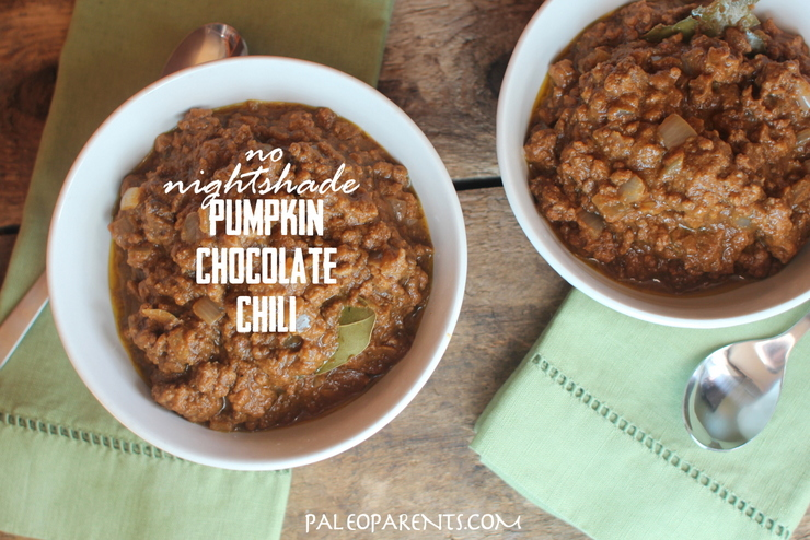 Pumpkin Chocolate Chili, Is Chocolate Paleo? Paleo Parents Weekend Wrap Up 7.19