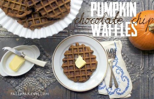 Pumpkin Chocolate Chip Waffles from The Best of Paleo 2014