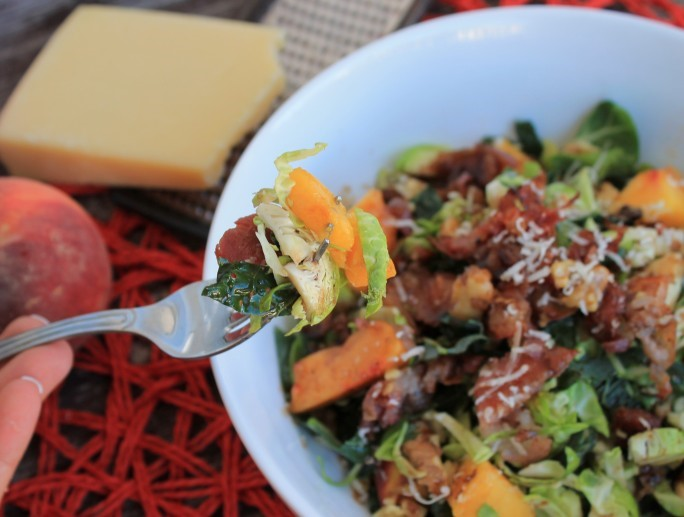 Guest Post: Tayste of Paleo, Paleo Brussel Sprout, Kale & Peach Salad