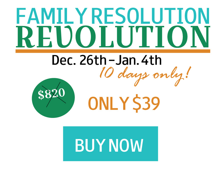 Family Resolution Revolution E- Bundle - Buy Now