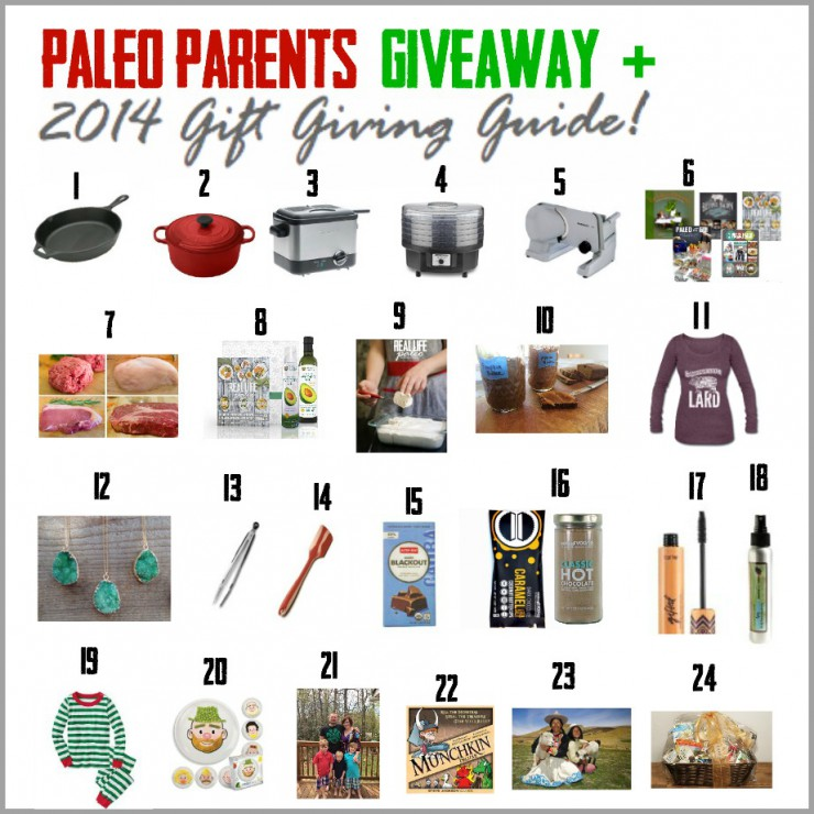 Gift Guide Final Graphic Updated Paleo Parents Holiday Giveaway 2014