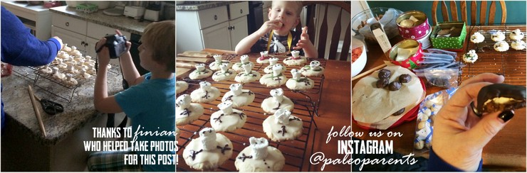 Melted Snowman Puddle Cookies Shared on IG by PaleoParents