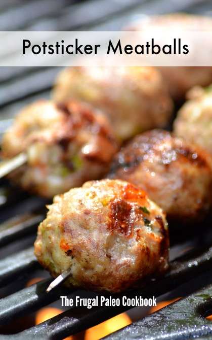 Paleo Parents Guest Post, Potsticker Meatballs from The Frugal Paleo Cookbook by Ciarra Hannah