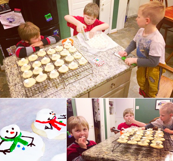 Instagram making snowman cookies pinterest fail paleo parents