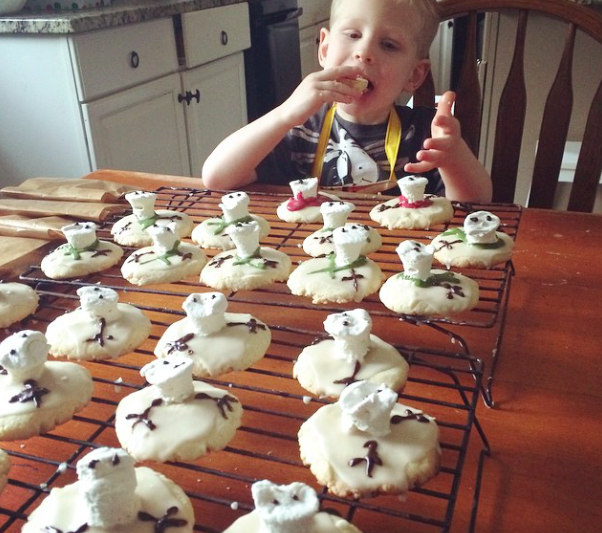 Wes Snowman Puddle Cookies