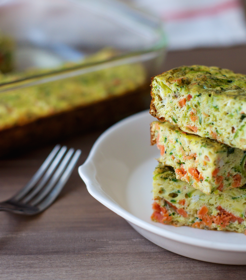 Smoked Salmon Egg Bake from Performance Paleo, Paleo Parents