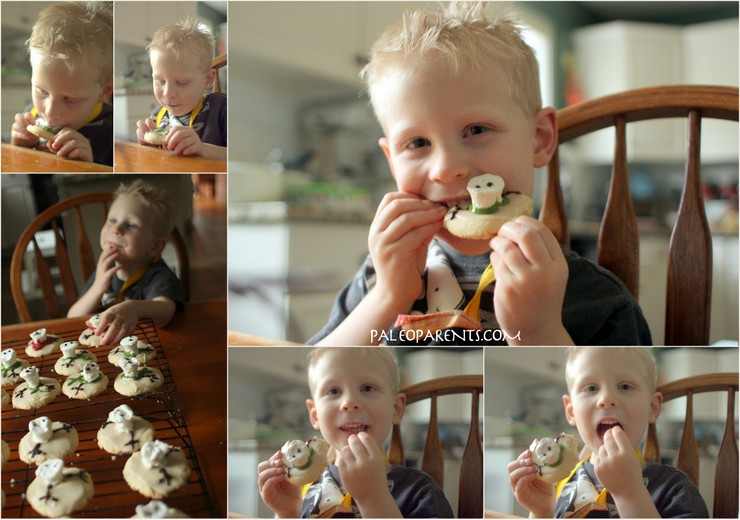 Wes the Cutie Loves Melted Snowman Puddle Cookies by PaleoParents