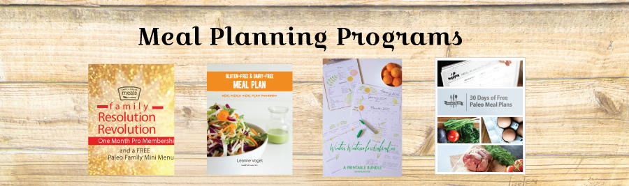 Family Resolution Revolution E-Bundle: Meal Planning Programs