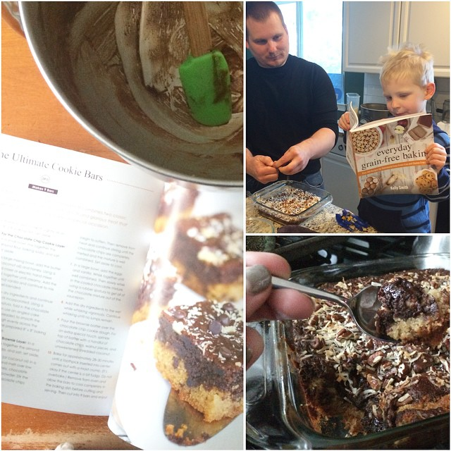 Making Cookie Bars from Everyday Grain Free Baking, Paleo Parents