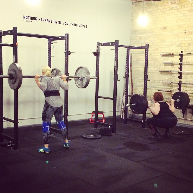 Minneapolis Stacy lifting with Jen Sinkler