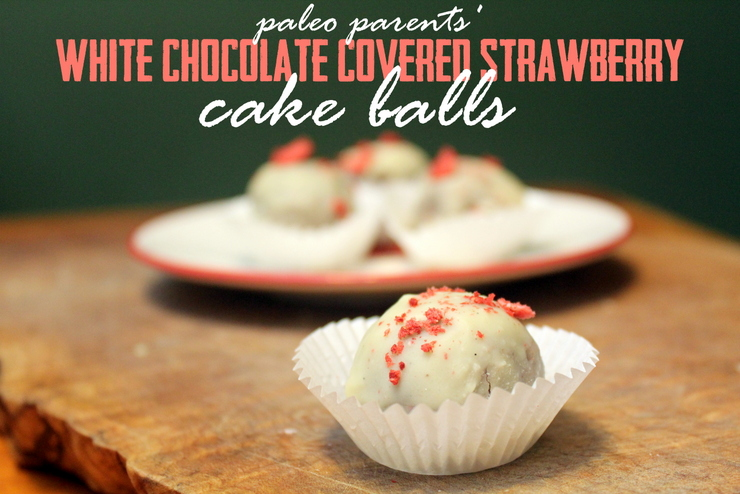 Valentine's Day Treat: White Chocolate Covered Strawberry Cake Balls