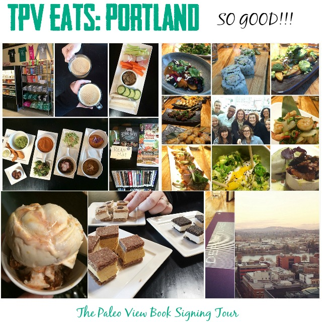 TPV Book Tour eats Portland with Paleo Parents Collage