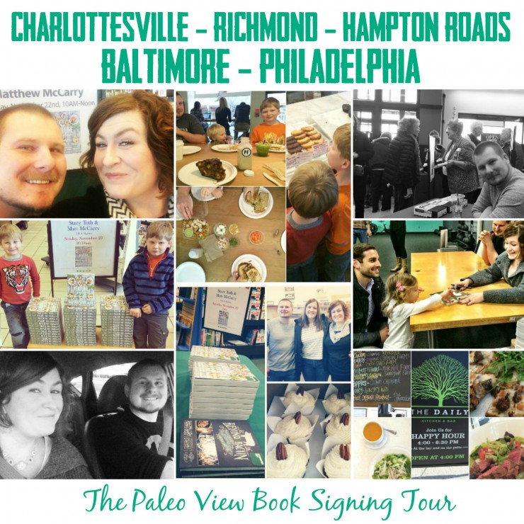 TPV Book Tour in Charlottesville, Richmond, Hampton Roads, Baltimore, Philadelphia with Paleo Parents