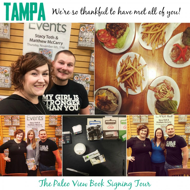 TPV Book Tour in Tampa FL with Paleo Parents Collage