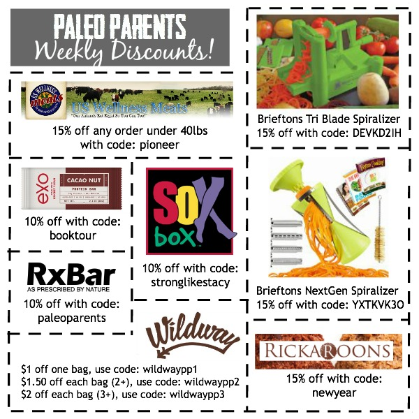 Weekly Discounts and Savings 1.4, Paleo Parents