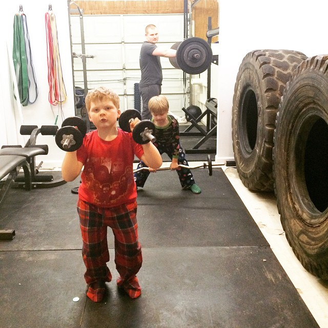 Boys lifting, Paleo Parents
