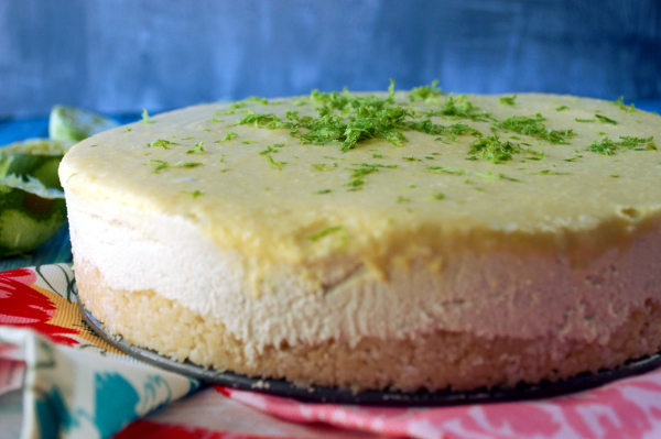Mango Key Lime Cheesecake by Plaid and Paleo, as seen on The Cheesecake Factory Recipe Recreation Round-Up by the Paleo Parents