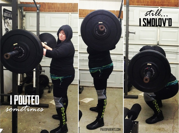 Pouty Face Squats on PaleoParents