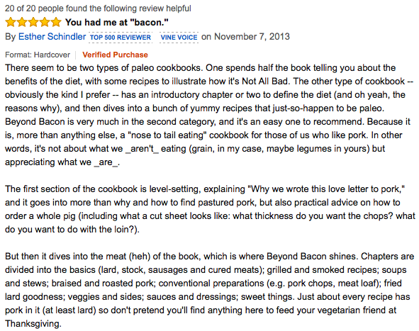 Beyond Bacon Amazon Review, Paleo Parents