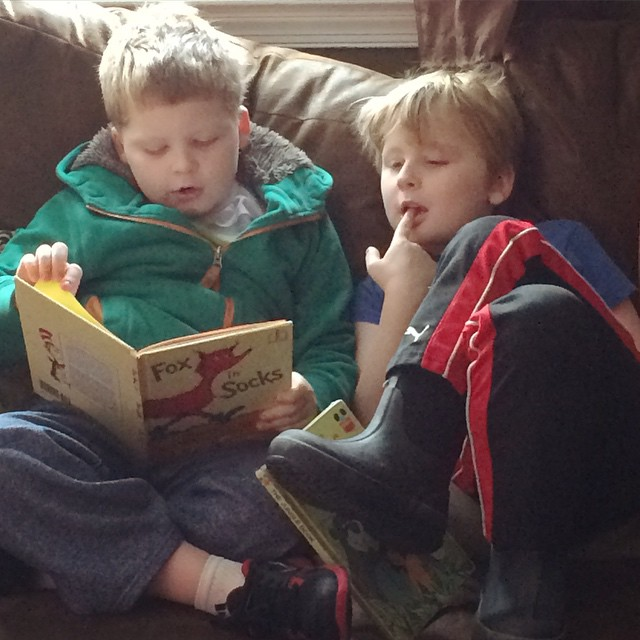 Boys reading, Weekend Wrap Up, 3/8: What We TOOK AWAY From Our Boys And What They GAVE US In Return!