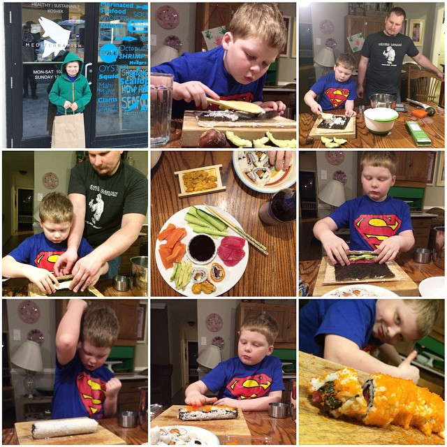 Cole is making sushi, Paleo Parents Weekend Wrap Up, 3/15: GIVEAWAY, CRAZY COUPONS, An ANNOUNCEMENT And WHAT Cole Is Cooking!