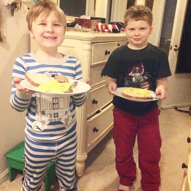Breakfast in bed, Weekend Wrap Up, 3/8: What We TOOK AWAY From Our Boys And What They GAVE US In Return!