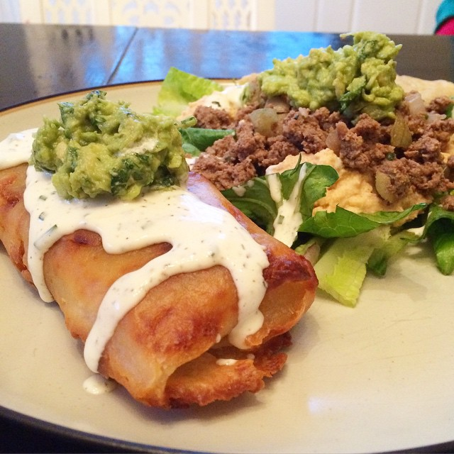 Chimichanga from Down South Paleo, Paleo Parents Weekend Wrap Up, 3/15: GIVEAWAY, CRAZY COUPONS, An ANNOUNCEMENT And WHAT Cole Is Cooking!