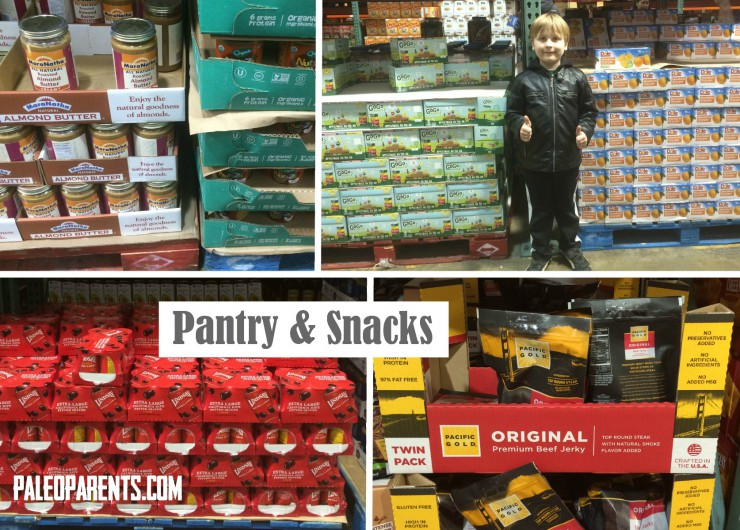 Costco Collage Pantry and Snacks