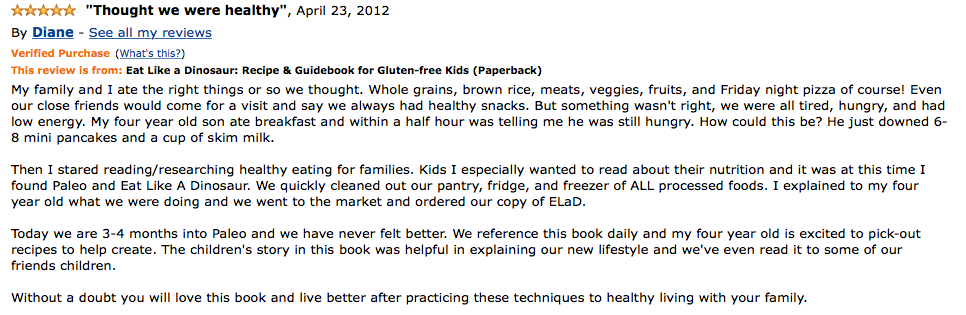Eat Like a Dinosaur Turns 3! as seen on Paleo Parents