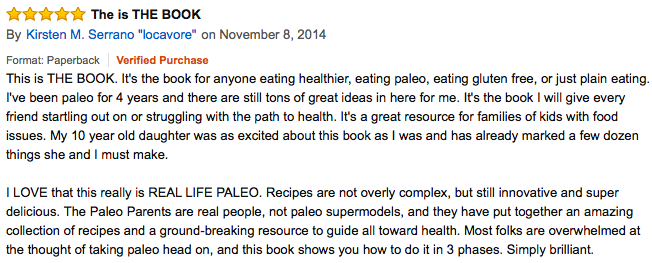 Real Life Paleo Amazon Review, Paleo Parents Weekend Wrap Up, 3/22: Flippin' WHAT?!
