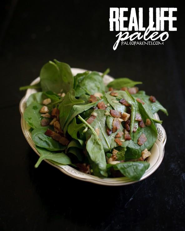 SpinachBaconSaladfromRealLifePaleobyPaleoParents