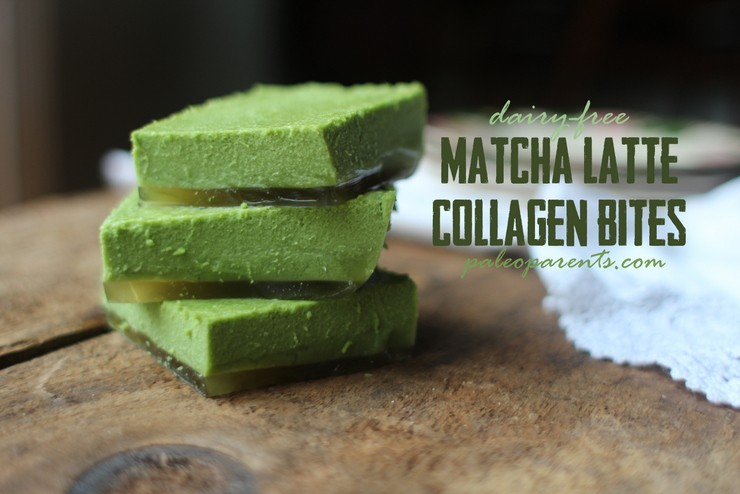 Matcha Latte Collagen Bites on Paleo Parents