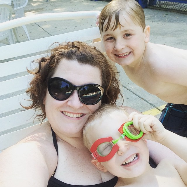 Pool time r and r, Paleo Parents Weekend Wrap Up 5.31: Why Our 9yo Drinks Coffee Plus A Week Of Relaxation And Tutorial On Paleo Pots!