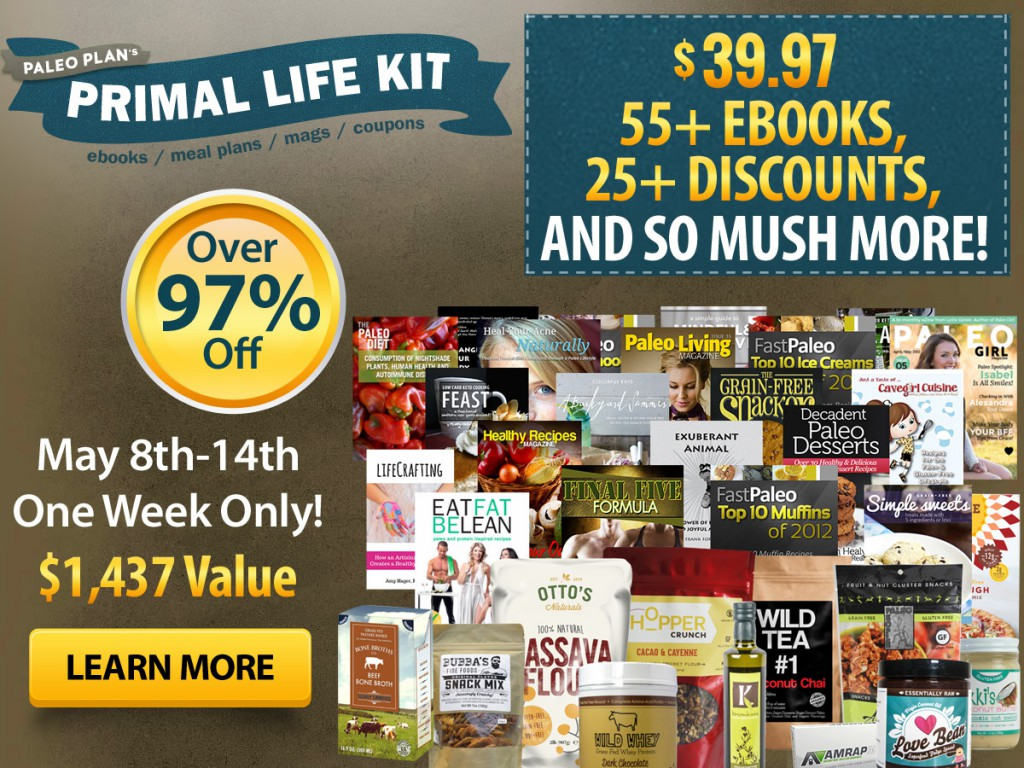 Primal life kit 2015 only 3997 with over 100 items so here are the nuts and bolts the primal life kit 2015 is only 3997 has over 100 items some from the biggest names in the primal and paleo fandeluxe Choice Image