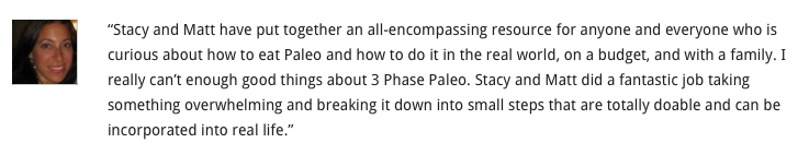 Three phase paleo review. Paleo Parents Weekend Wrap Up: Sorry - But THIS Week Was SO AWESOME!