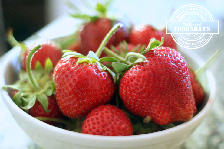 Strawberry Tutorial on Paleo Parents