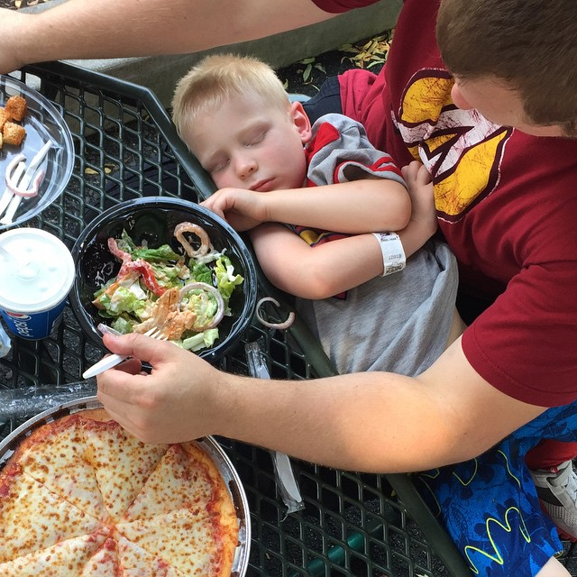 Wes falls asleep, Paleo Parents Weekend Wrap Up  6.14 Farmer's Market Must Haves! (And How To NOT Eat Chocolate In Hershey, PA!)