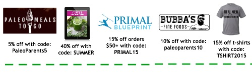 Paleo discounts coupon codes, Paleo Parents Weekend Wrap Up: All about Paleo Pasta
