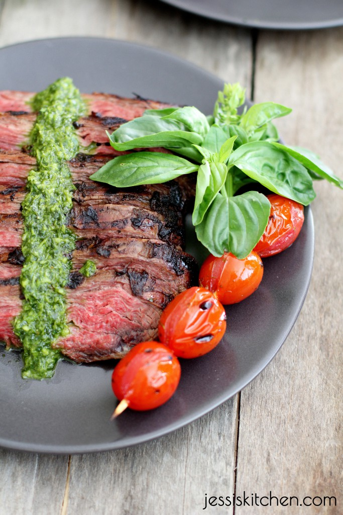 Paleo Parents Guest post: Grilled Skirt Steak with Cilantro Pesto, Jessi's Kitchen