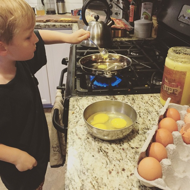 Fin making breakfast, Paleo Parents Weekend Round Up 7.5: Summer Eats for Kids + Our Real Life!