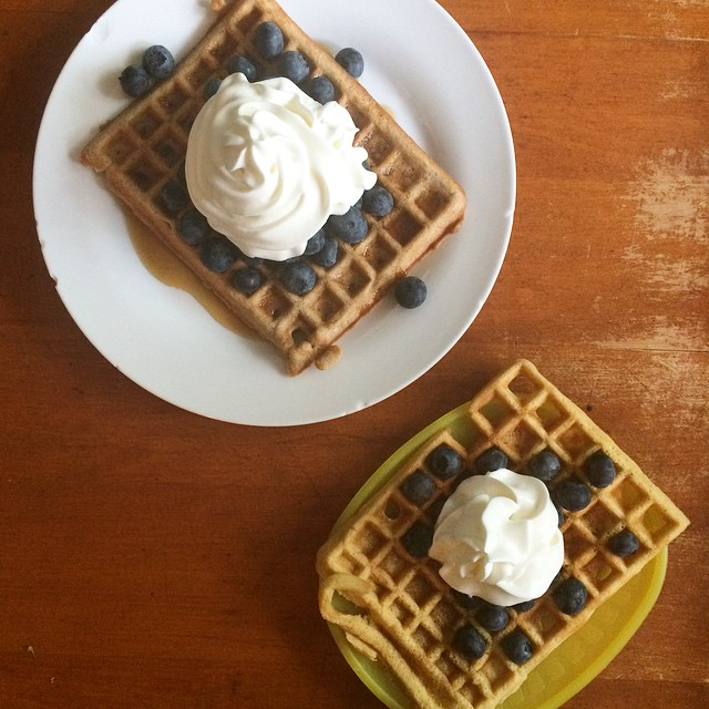 Epic waffles with whipped cream and berries, Paleo Parents Weekend Wrap up: The Best SUMMER PARTY TREAT & All About Summer BERRIES!