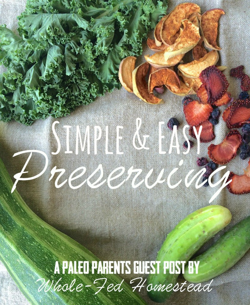 Simple Preserving, Guest Post: Simple & Easy Preserving, Whole-Fed Homestead- Beginner's Guide to Dehydrating, Freezing and Fermenting