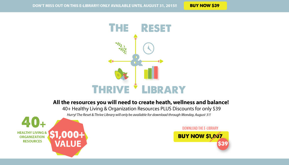Announcing the Reset & Thrive Library! Everything you need to get organized, create balance, and improve your family's health! Paleoparents.com
