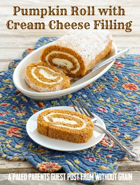 Guest Post: Pumpkin Roll with Cream Cheese Filling from Without Grain