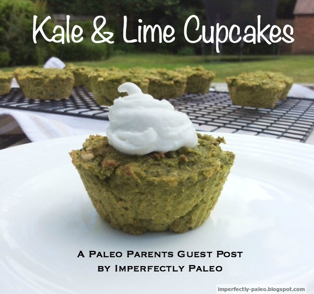 Paleo Parents Guest Post: Kale and Lime Cupcakes with Whipped Coconut Cream