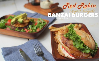 Red Robin Recreation – copycat teriyaki Banzai Burgers