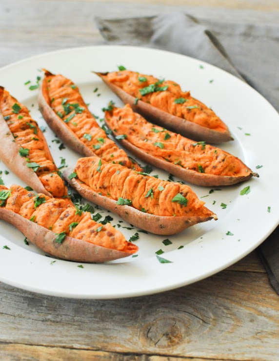 Twice Baked Sweet Potatoes from Holiday Feast in the Autoimmune Wellness Bundle